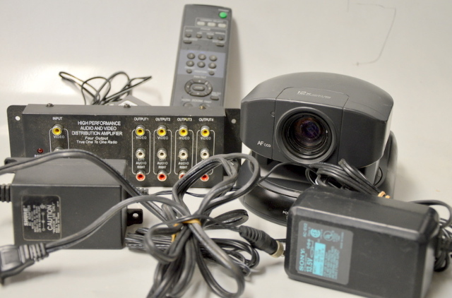 Sony EVI-D30 Conference Surveillance Video Camera - with accessories - Used