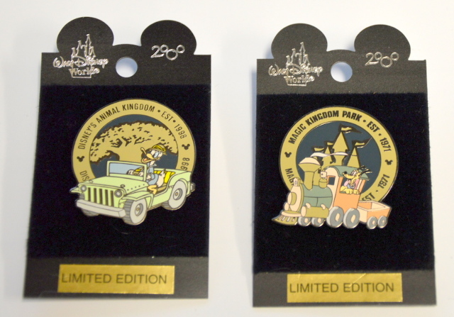 2 Disney LE Pins, 1 From Magic Kingdom and 1 From Animal Kingdom. #2000
