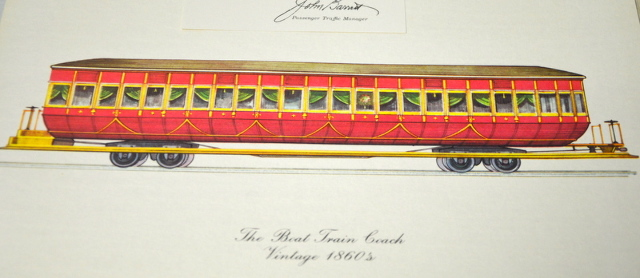 Vintage Wabash Railroad Cars -  Lithographed with pages of information. 1958