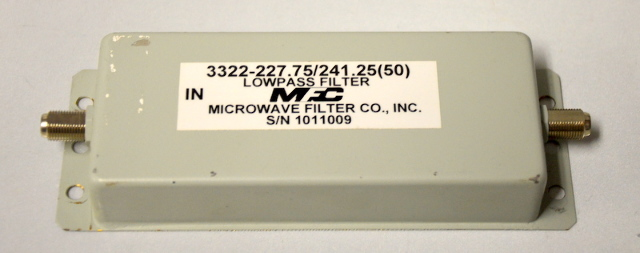 <FC Microwave Lowpass Filter #3322-227.75/241.25 (50) - New Old Stock
