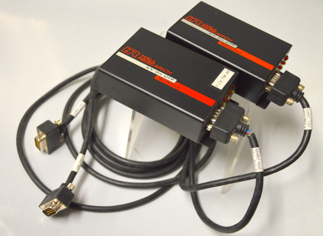 Hall Research A/V on UTP Receivers Model URA with VGA cord. 2 Units
