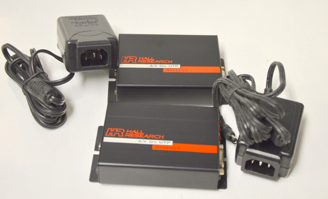 Hall Research A/V on UTP Receivers Model URA with Power Supply