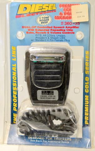 Diesel Dual-Op Controlled Speech Amplifier Microphone #360-35