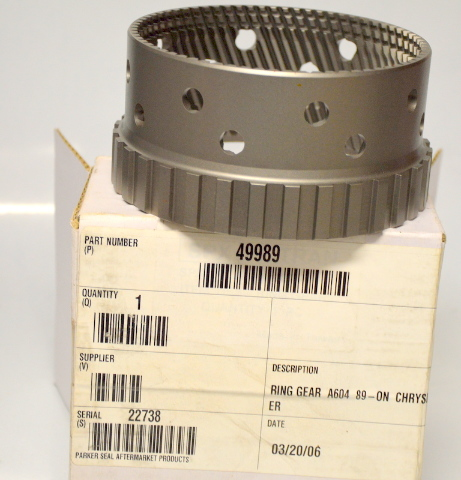 A604 89 Ring Gear on Chrysler #49989 NIB - 1988 and up.