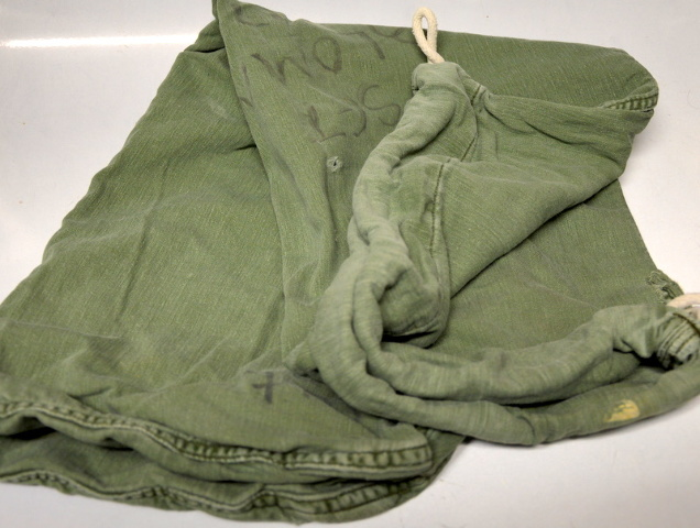 2 - US Military Cloth Drawstring Barracks Bag