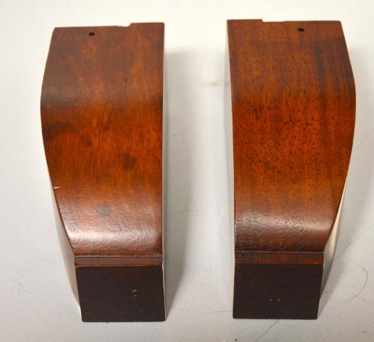 """1 Pair of Solid Wooden Furniture Legs  2 3/8 sq x 5 1/2"""" tall - NIB  #241-367"""