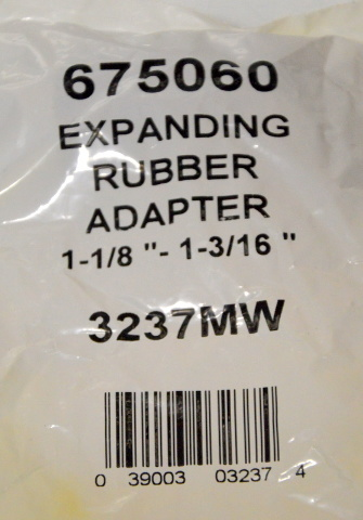 "1 Kit - Expanding Rubber Adapter 1-1/8"" to 1-3/16"" #3237MW  - 675060"