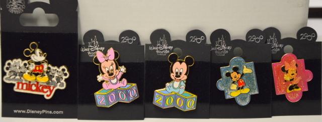5 Walt Disney World Pins - Baby Mickey & Minnie - Young Mickey & Minnie #020519