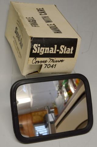 "Signal Stat Convex Mirror Head #7041 Rectangular  5"" x 7"" New Old Stock"