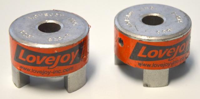 "2 -Lovejoy Shaft Coupler Body, Bor 1/2"" Dia 1 3/4"" #L-075"
