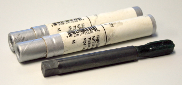 "High Speed NPT Ground Thread Long Pipe Tap 1/8"" x 4"" - 2 pcs #797"
