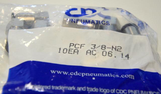 "PneumaticPlus PCF-3/8-N2 Push to Connect Tube Fitting, 3/8"" - 10 pcs."