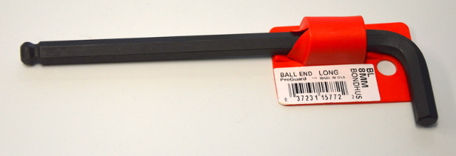 3pcs 8mm Hex BallDriver® Long Arm L-Wrench ProGuard™ Finish Bondhus USA #15772