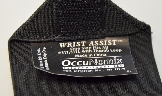 Wrist Support, Ambidextrous, Black, Occunomix #311-068