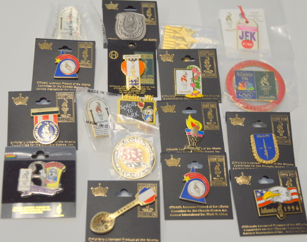 16 Collectibel Pins from 1996 Atlanta Olympics - All new.