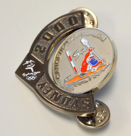 Sydney Olympics 2000 Canoe / Kayak / Slalom Rotating Pin. 1/1000