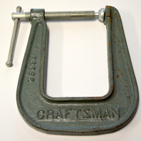 "Vintage Craftsman Pearlitic 4"" Deep Throat C-Clamp #66682"