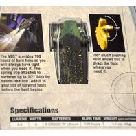Pelican VB3 2220-010-113, Dual Super Bright LEDs, 180*Pivoting Head, Spring Clip