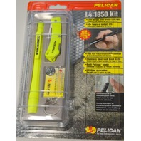 Pelican #1980C Knife/Light Combo in Plastic box. Yellow.
