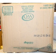 "4 Boxes of 500 Individually wrapped 10 1/4"" plastic drinking straws #DP24513"