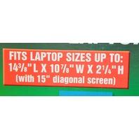 "Pelican 1490 Laptop Case fits 15"" Diagonal screen: 14 3/8 x 10 7/8 x 2 1/2H"