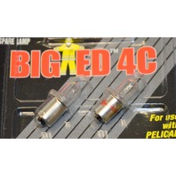 Pelican #3704 Big Ed 4C Replacement Flashlight Bulbs. 2 - 2 Pks
