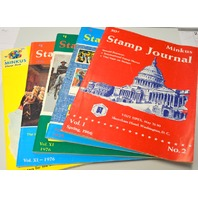 5 Minkus Books-1 Stamp Guide 1973 and 4 Stamp Journal's 1966, 1975, 2-1976