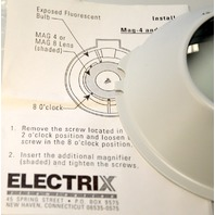 """Electrix #MAG-8 Add on lens 3"""" Diameter, 8 Diopter Add on lens. #7426"""