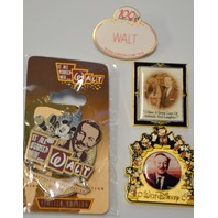 4 -  Walt Disney Collectible Pins: All are about Walt Disney.40010905235