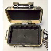 Pelican #1020-025-113 Micro Black Mossy Camo Case Dry Box with Carabiner