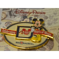 """Disney's Mickey Mouse """"Celebrating 40 Years of Magic"""" Pin 400000972879"""