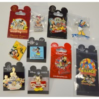 10-Disney Collectible Pins - All new, all different. #2502