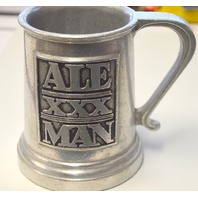 Metal Ale XXX Man Pint Pewter Beer Stein
