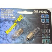 2 Pelican 4300-350-105 #4303L Nemo 8C Replacement Lite for Nemo 8C Flashlight- 2 Pk