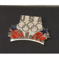 Balfour Olympic Pin, Sterling Silver - Stars & Strips w/skyline  LE 692/5000