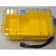 Pelican 1050 Yellow / Clear Micro Case