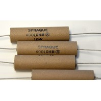 Sprague 50 Ohms-10 Watt-5%Tol.-Power Wirewound Resistors - 5pcs. New old stock.