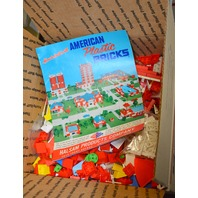 7 Pounds (Over 1000 pcs) Vintage American Brick Plastic Building Blocks