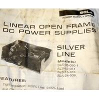 Vintage Sola SLS-24-036 Linear Open Fram DC Power Supply  Silver Line - No box