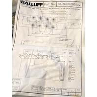 BALLUFF C04T8R00PB050M SPLITTER AND JUNCTION BLOCK 8 PORT 12' CABLE