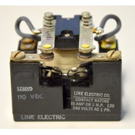 Line Electric 110VDC, 0930-0441 Rating 25 AMP or 1 HP, 120/240 VAC 1 PH DPST