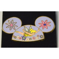 Tinker Bell Flying on Mickey Mouse Flowered Ear Hat Pin  #695