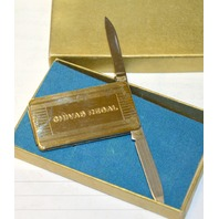 "Vintage Money Clip with knife and File 2"" x 1"" with the words Chivas Regal on it."