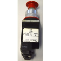 Allen Bradley 800MR-FX Push Pull Red Button.  Series A