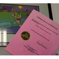 """Bugs Bunny"" 50th Birthday Commemorative Sericel. 1990 Warren Brothers."