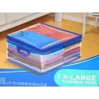 "Ziploc 10 Gallon Zipper Closer Totes 3 Boxes XL, Soft Side Storage, 1' 4""x10 1/2""x1'1"""