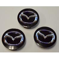 """3 *  Genuine 2013-2016 Mazda 3, 5, 6, CX-9 MX-5 Miata 17"""" Alloy Wheel Center Cap"""