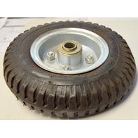 """8"""" x 2"""" Pneumatic Cart / Handtruck Offset Wheel, 5/8"""" Bearing, 2:50-4, 1 """" extension"""