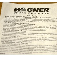 Wagner QuickStop Semi-Metallic Disc Brake Pad Set #ZX978A - Open box