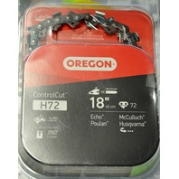 "Oregon Advance Cut 18"" Replacement Chain Saw Chain H72"